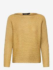 Lauren Ralph Lauren - Dolman-Sleeve Boatneck Sweater - pulls - shiny gold lurex - 1