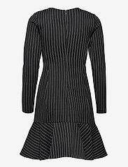 Lauren Ralph Lauren - Pinstripe Ponte Dress - cocktailkjoler - polo black/mascar - 2