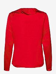 Lauren Ralph Lauren - Ruffle-Trim Sateen Top - blouses à manches longues - lipstick red - 2