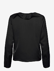 Lauren Ralph Lauren - Ruffle-Trim Sateen Top - blouses à manches longues - polo black - 2