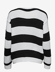 Lauren Ralph Lauren - Striped Button-Trim Cotton Sweater - trøjer - white/polo black - 2