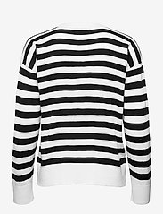 Lauren Ralph Lauren - Striped Cotton-Modal Sweater - trøjer - white/polo black - 2