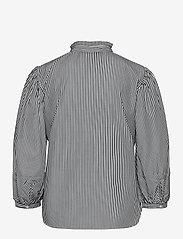Lauren Ralph Lauren - Striped Bishop-Sleeve Cotton Shirt - langærmede bluser - black/white - 2