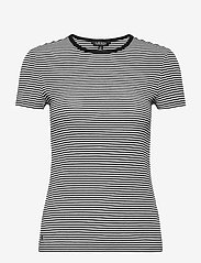 Lauren Ralph Lauren - Striped Cotton-Blend T-Shirt - t-shirts - white/polo black - 1