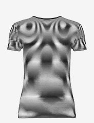 Lauren Ralph Lauren - Striped Cotton-Blend T-Shirt - t-shirts - white/polo black - 2