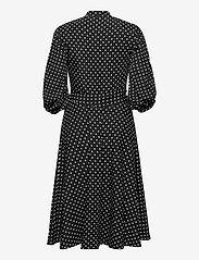 Lauren Ralph Lauren - Polka-Dot Bishop-Sleeve Crepe Dress - hverdagskjoler - polo black/white - 2