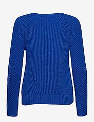 Lauren Ralph Lauren - Button-Trim Cotton Sweater - pulls - pacific royal - 2