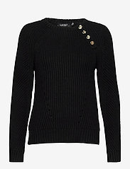 Lauren Ralph Lauren - Button-Trim Cotton Sweater - pulls - polo black - 1
