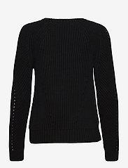 Lauren Ralph Lauren - Button-Trim Cotton Sweater - pulls - polo black - 2