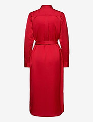 Lauren Ralph Lauren - Sateen Button-Down Shirtdress - skjortekjoler - lipstick red - 2