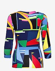Lauren Ralph Lauren - Wrap-Style Jersey Top - blouses à manches longues - blue multi - 2