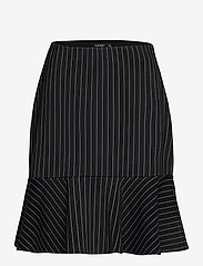 Lauren Ralph Lauren - Pinstripe Flounced Ponte Skirt - midinederdele - polo black/mascar - 1