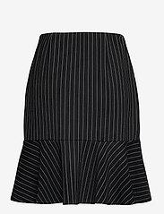 Lauren Ralph Lauren - Pinstripe Flounced Ponte Skirt - midinederdele - polo black/mascar - 2