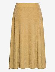 Lauren Ralph Lauren - Metallic Double-Knit Jacquard Skirt - jupes midi - gold metal - 2