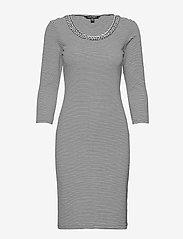 Lauren Ralph Lauren - Striped Stretch Cotton Dress - hverdagskjoler - white/polo black - 1