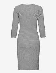 Lauren Ralph Lauren - Striped Stretch Cotton Dress - hverdagskjoler - white/polo black - 2