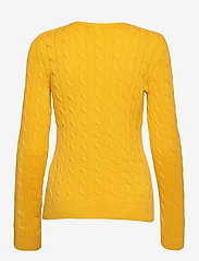 Lauren Ralph Lauren - Button-Trim Cable-Knit Sweater - pulls - athletic gold - 2