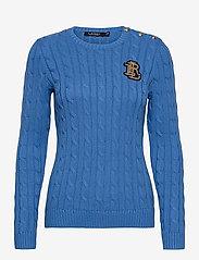 Lauren Ralph Lauren - Button-Trim Cable-Knit Sweater - pulls - captain blue - 1
