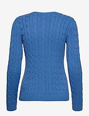 Lauren Ralph Lauren - Button-Trim Cable-Knit Sweater - trøjer - captain blue - 2