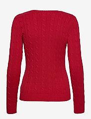 Lauren Ralph Lauren - Button-Trim Cable-Knit Sweater - trøjer - lipstick red - 2
