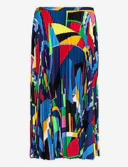 Lauren Ralph Lauren - Print Pleated Crepe Skirt - midinederdele - polo black multi - 2