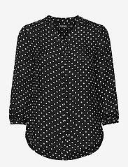Lauren Ralph Lauren - Polka-Dot Georgette Top - blouses à manches longues - polo black/white - 1