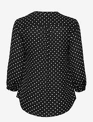 Lauren Ralph Lauren - Polka-Dot Georgette Top - blouses à manches longues - polo black/white - 2