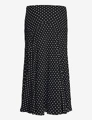 Lauren Ralph Lauren - Polka-Dot Georgette Peasant Skirt - midinederdele - polo black/white - 2