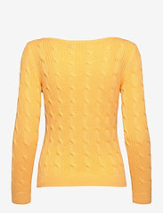 Lauren Ralph Lauren - Cable-Knit Boatneck Cotton Sweater - trøjer - beach yellow - 2