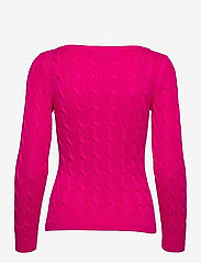 Lauren Ralph Lauren - Cable-Knit Boatneck Cotton Sweater - trøjer - nouveau bright pi - 2