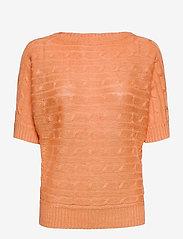 Lauren Ralph Lauren - Linen Cable-Knit Sweater - trøjer - shell coral - 1