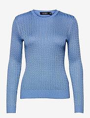 Cable-Knit Crewneck Sweater - CABANA BLUE