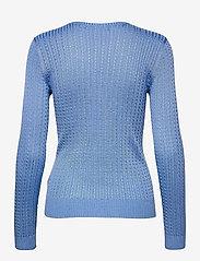 Lauren Ralph Lauren - Cable-Knit Crewneck Sweater - trøjer - cabana blue - 2