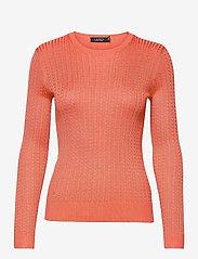 Lauren Ralph Lauren - Cable-Knit Crewneck Sweater - trøjer - coral quartz - 1