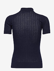 Lauren Ralph Lauren - Rib-Knit Collared Shirt - poloskjorter - french navy - 2