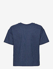 Lauren Ralph Lauren - Pinstripe Ponte Tee - t-shirts - french navy/pale - 2