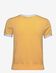 Lauren Ralph Lauren - Intarsia-Knit Cotton-Modal Sweater - strikkede toppe - beach yellow/whit - 1