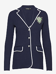 Lauren Ralph Lauren - Bullion Combed Cotton Blazer - vestes casual - french navy/ whit - 1