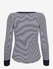 Lauren Ralph Lauren - Striped Snap-Trim Drop-Needle Top - langærmede toppe - french navy/white - 2