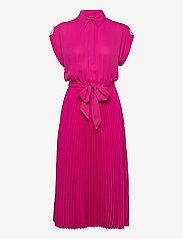 Lauren Ralph Lauren - Pleated Georgette Shirtdress - sommerkjoler - nouveau bright pi - 1