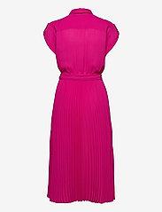 Lauren Ralph Lauren - Pleated Georgette Shirtdress - skjortekjoler - nouveau bright pi - 2