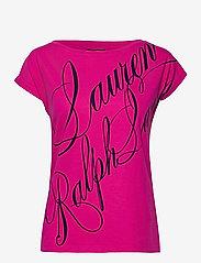 Lauren Ralph Lauren - Logo Boatneck Tee - t-shirts - nouveau bright pi - 1