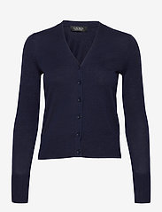 Lauren Ralph Lauren - Cotton-Modal Cardigan Sweater - gilets - french navy - 1