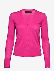 Lauren Ralph Lauren - Cotton-Modal Cardigan Sweater - gilets - nouveau bright pi - 1