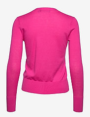 Lauren Ralph Lauren - Cotton-Modal Cardigan Sweater - gilets - nouveau bright pi - 2