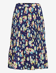 Lauren Ralph Lauren - Floral Pleated Georgette Midi Skirt - træningsnederdele - blue multi - 0