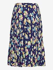 Lauren Ralph Lauren - Floral Pleated Georgette Midi Skirt - træningsnederdele - blue multi - 1