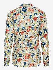 Lauren Ralph Lauren - Floral Cotton Voile Shirt - langærmede skjorter - cream multi - 1