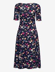 Lauren Ralph Lauren - Floral Stretch Cotton Midi Dress - sommerkjoler - french navy multi - 2