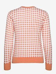 Lauren Ralph Lauren - Gingham Cotton-Modal Sweater - trøjer - shell coral/ whit - 1